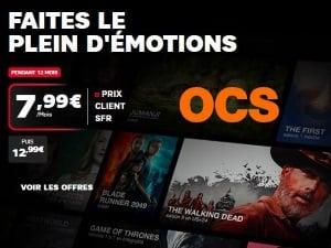 OCS pas cher avec l'abonnement SFR : 7,99 euros/mois