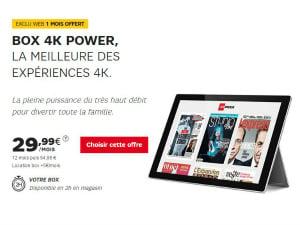 L'offre Box power pour SFR Sport 4K