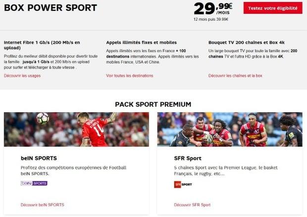Abonnements SFR avec Bein Sports