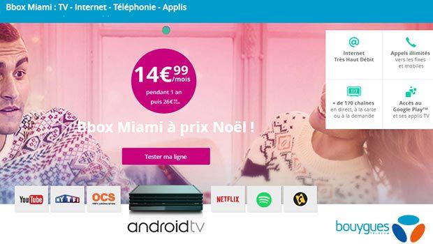 Les offres THD Bbox Miami de Bouygues