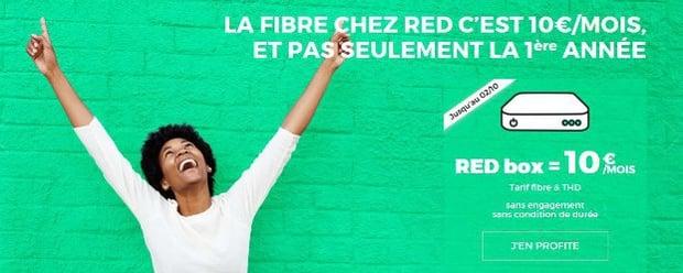 RED : Souscrire un abonnement box fibre à 10 euros/mois