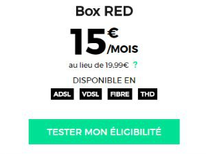 Internet RED à 15€/mois