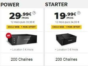Les box SFR starter et power
