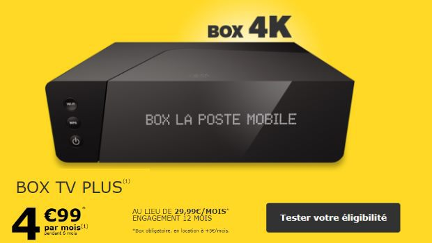 Box La Poste à 5€/mois pendant 6 mois