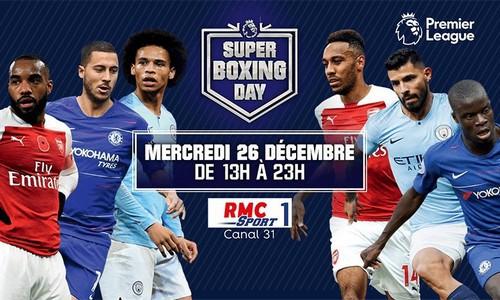 Les matchs de Premier League du Boxing Day sont en exclusivité sur la chaîne RMC Sport