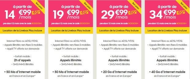 Sosh : offres Box + mobile en promotion