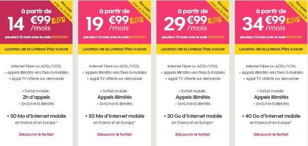 Internet plus forfait mobile en promotion chez Sosh
