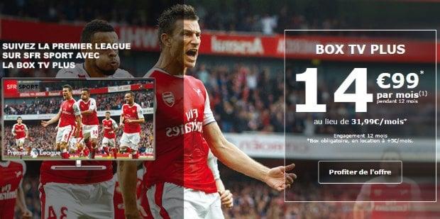 SFR Sport et la Premier League avec la poste mobile