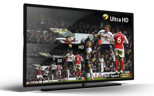 BT Sport diffusée en Ultra Haute Définition et en 4K
