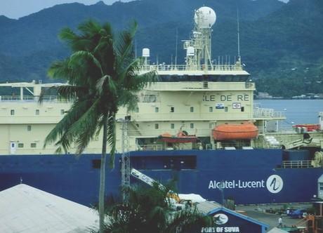 Le navire câblier Ile de Ré d'Alcatel Lucent