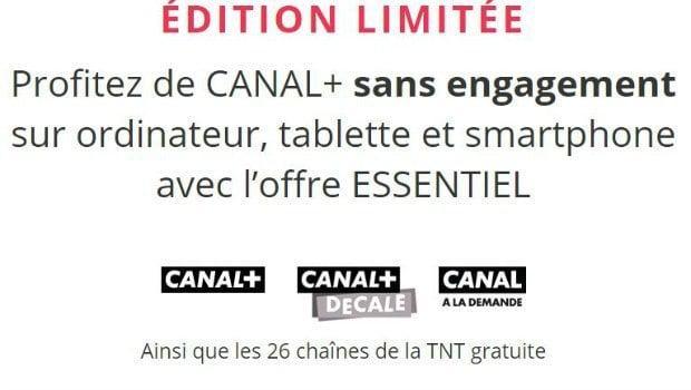 Détails de l'offre sans engagement de Canal +