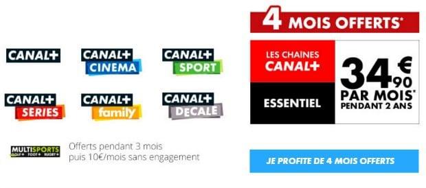 Découvrir la promo Canal+ Essentiel+ Les Chaînes