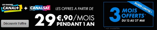 3 mois offerts chez Canal