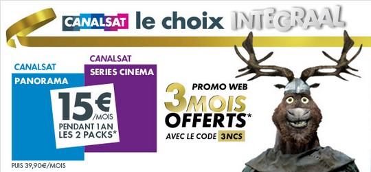 Promotion Canalsat Intégral Noel 2012