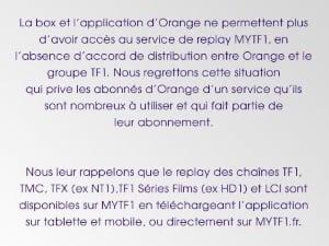 Comment regarder TF1 en replay chez Orange ?