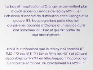 Comment regarder TF1 en replay chez Orange ?