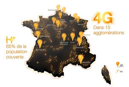 Carte de couverture 4G d'Orange