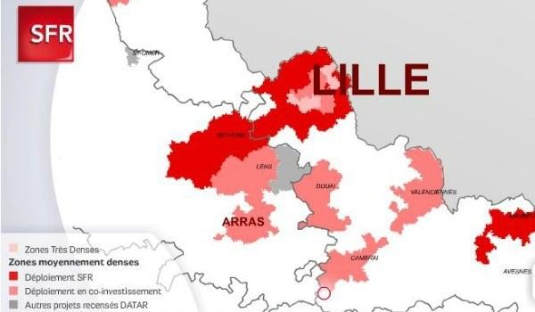 le déploiement de la fibre SFR sur Lille et Roubaix