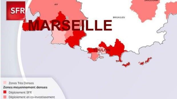 le déploiement de la fibre SFR sur Toulon