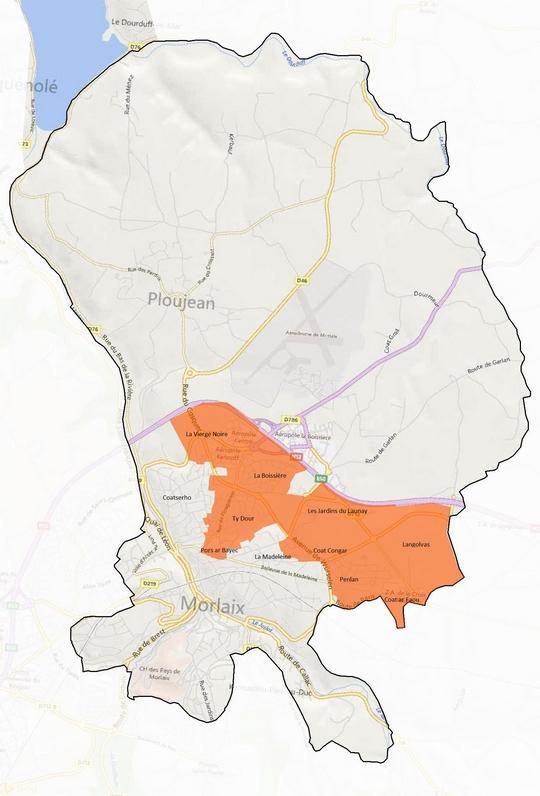 Les premiers quartiers fibrés par Orange à Morlaix en 2015