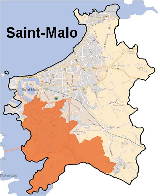 Carte de couverture de la fibre d'Orange à Saint Malo