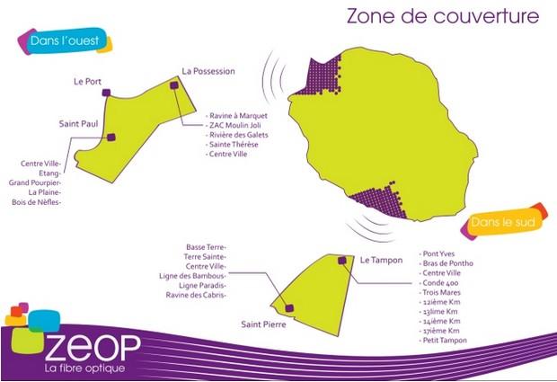 carte de couverture ZEOP à la Réunion