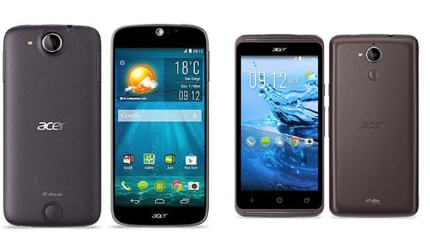 Des Smartphones Acer bourrés de fonctionnalités pratiques