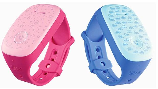 Des bracelets pour la sécurité des enfants, ici le LG Gizmopal rose ou bleu