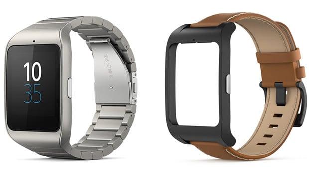 Sony Smartwatch 3, en version métal et avec bracelets interchangeables