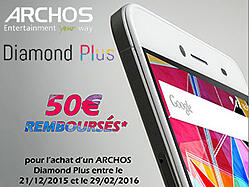La promo sur l'ARCHOS Diamond Plus