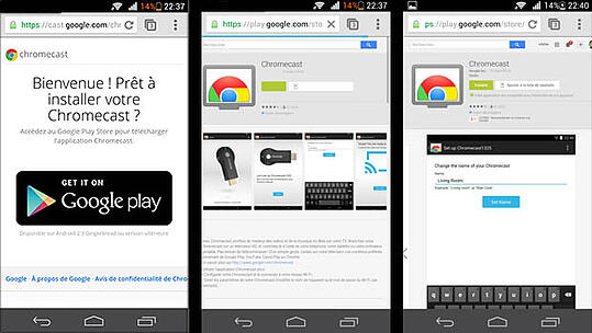 Sur le Google Play Store, on retrouve l'application Chromecast