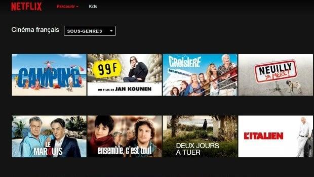 L'offre de cinéma français sur Netflix