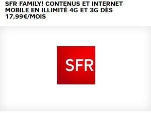SFR : Internet mobile illimité avec Family