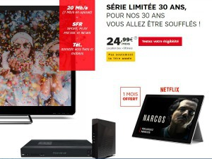 SFR : offre Internet avec Netflix gratuit 6 mois en Family