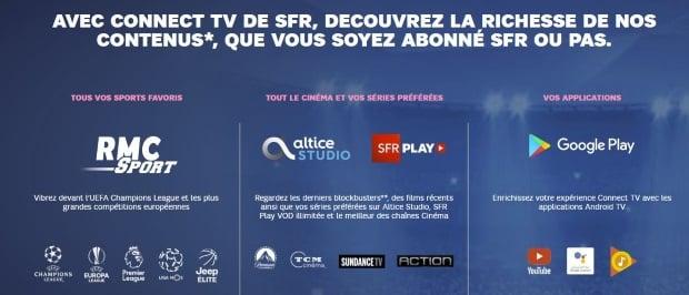 Connect TV : s'abonner à RMC Sport sans être client SFR