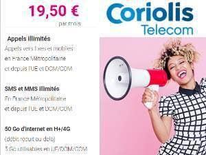 Coriolis Série Limitée 50Go à 19,50€/mois