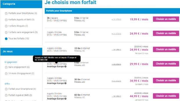 Forfaits mobiles en promotions chez Coriolis Telecom