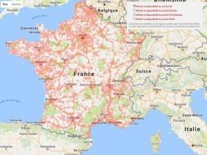 Bouygues : réseau 4G mars 2017