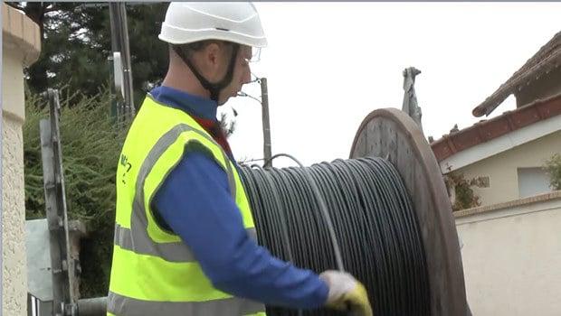 Déploiement de fibre optique