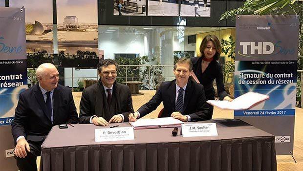 Signature avec Patrick Devedjian et Jean-Michel Soulier de la DSP pour le 92