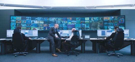 Salle CSC du téléport d'Eutelsat à Rambouillet