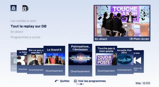 D8 Replay enrichit l'offre de TV à la demande de Videofutur