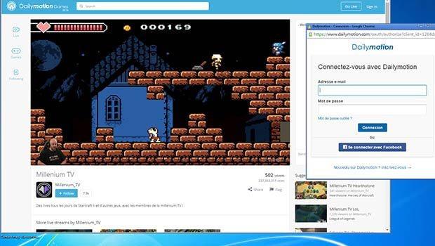Dailymotion Games permet de discuter en temps réels avec les joueurs/spectateurs d'une événement en live