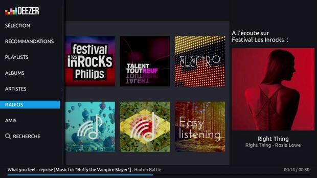 les playlists et les 30 millions de titres du catalogue Deezer sur la Freebox