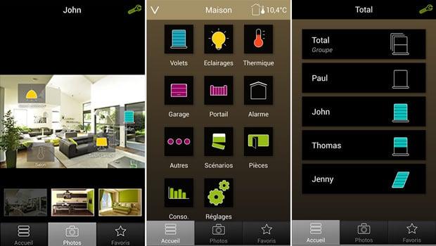 L'application Tydom est très intuitive et permet de tout gérer