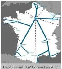TGV Connect dans 80% des TGV d'ici à fin 2017