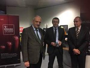 Inauguration avec Michel Heinrich, Président de la Communauté d'Agglomération d'Epinal et Didier Jenczak, Directeur des relations régionales Est de SFR