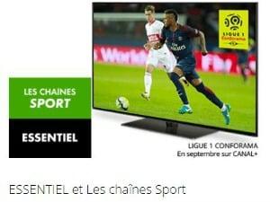 Canal+ Essentiel et BeIN Sport en promotion