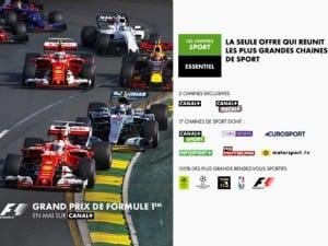Canal+ : les Grand Prix de F1