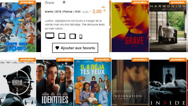 La VOD chez Orange